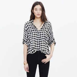 Madewell courier shirt in buffalo plaid L large